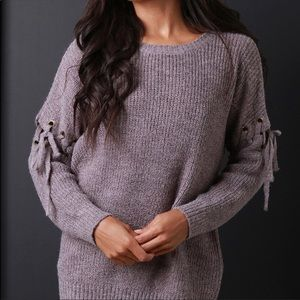 Plum Lace sweater